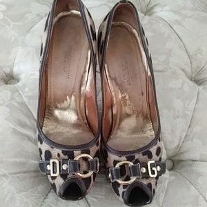 Dolce & Gabbana animal print heels